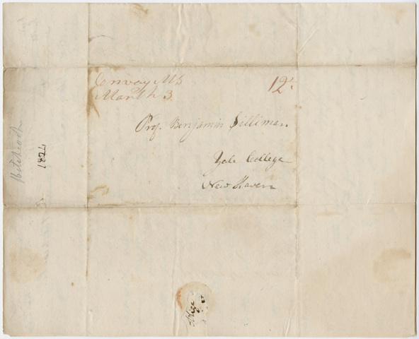Edward Hitchcock letter to Benjamin Silliman, 1824 March 1