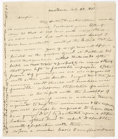 Benjamin Silliman letter to Edward Hitchcock, 1835 July 22