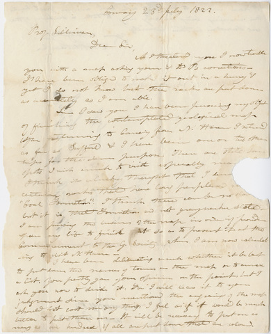 Edward Hitchcock letter to Benjamin Silliman, 1822 July 23
