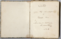 "Edward Hitchcock research notes, ""Notes Upon the Analysis of Soils &c,"" 1838"