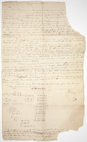 Edward Hitchcock draft letter to Edmund M. Blunt, 1816 October 29