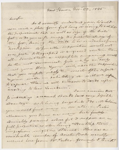 Benjamin Silliman letter to Edward Hitchcock, 1835 November 23