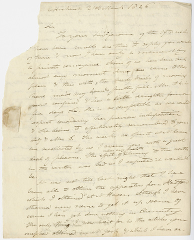 Edward Hitchcock letter to Benjamin Silliman, 1826 March 21