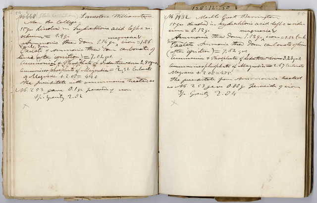 Edward Hitchcock research notes,