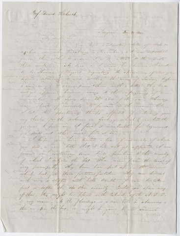 Henry J. Van-Lennep letter to Edward Hitchcock, 1841 December 31