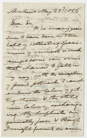 Edward Hitchcock letter to unidentified recipient, 1856 May 23