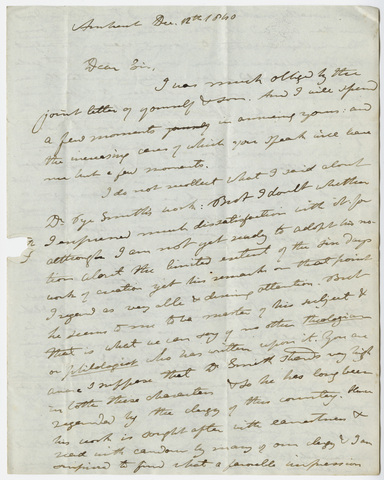 Edward Hitchcock letter to Benjamin Silliman, 1840 December 12