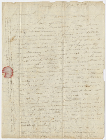 Edward Hitchcock letter to Benjamin Silliman, 1818 September 28
