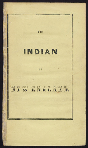 Indian of New-England, and the north-eastern provinces