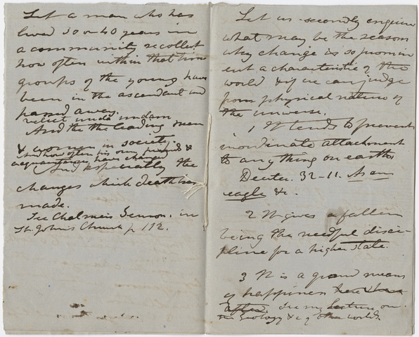 Edward Hitchcock sermon notes, 1857 November 15