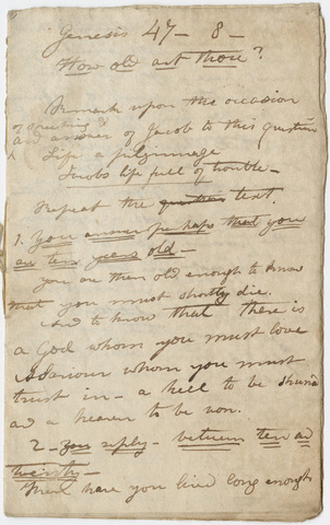 Edward Hitchcock sermon notes