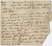 Edward Hitchcock sermon notes, 1834 January