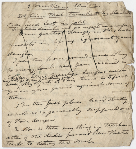 Edward Hitchcock sermon notes, 1836