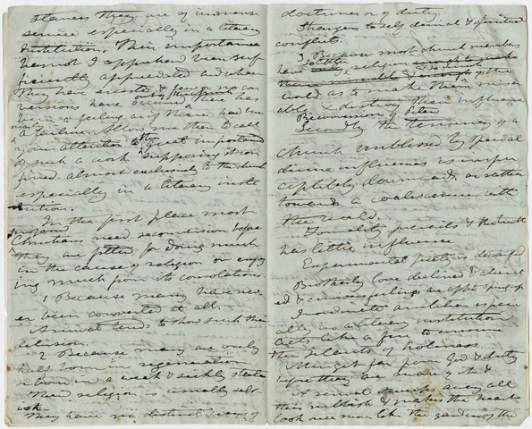 Edward Hitchcock sermon notes, 1846 February