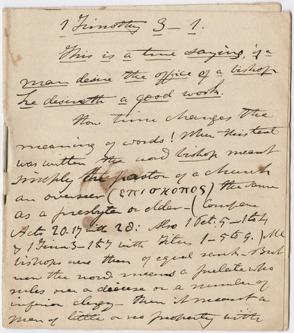 Edward Hitchcock sermon notes, 1839 July