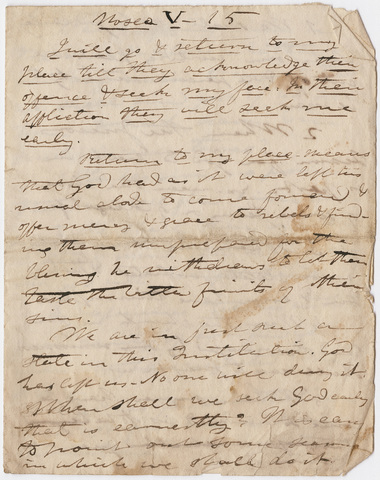 Edward Hitchcock sermon notes, 1837 October