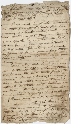 Edward Hitchcock sermon notes, 1823 February