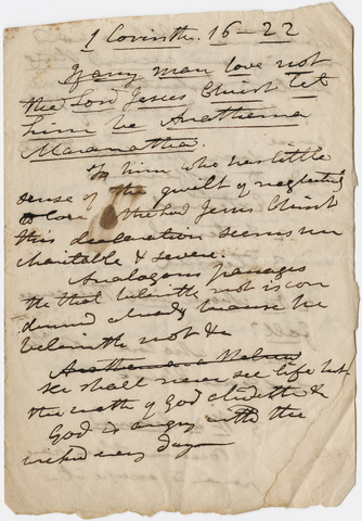 Edward Hitchcock sermon notes, 1835 April