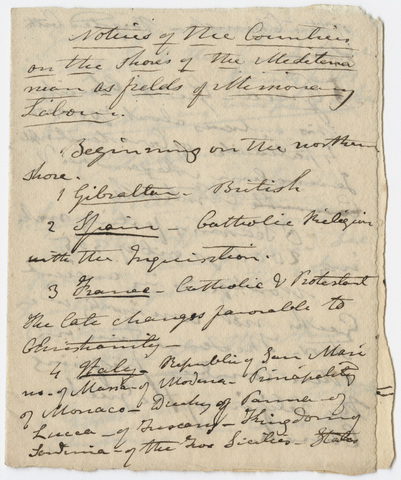 Edward Hitchcock list of Mediterranean countries with missionaries