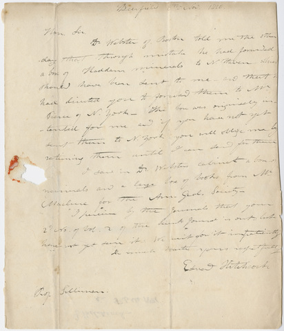 Edward Hitchcock letter to Benjamin Silliman, 1820 November 8