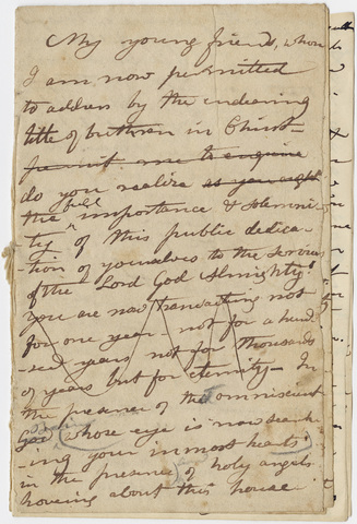 Edward Hitchcock sermon notes, 1849 April 1