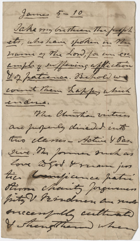 Edward Hitchcock sermon notes, 1859 May