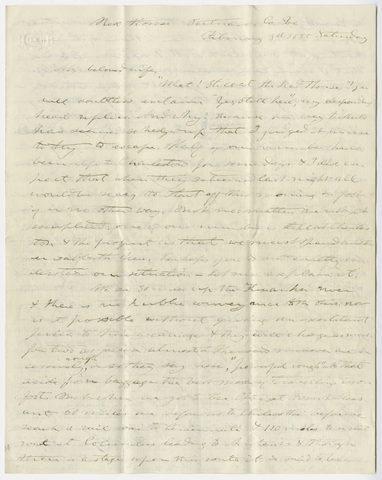 Edward Hitchcock letter to Orra White Hitchcock, 1855 February 3