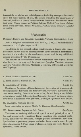 Amherst College Catalog 1950/1951