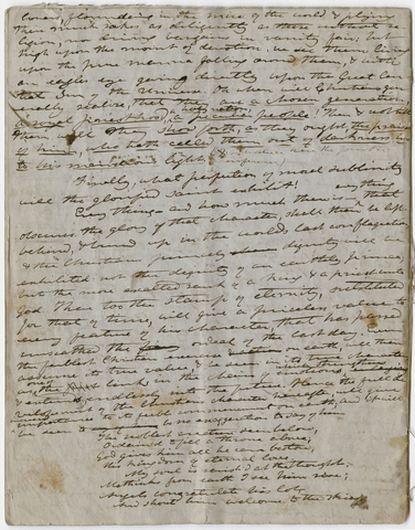 Edward Hitchcock unnumbered sermon, 1847 May 23