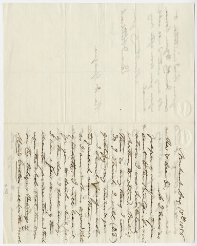 Edward Hitchcock letter to William B. Sprague, 1856 August 18