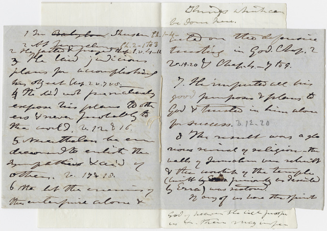 Edward Hitchcock sermon notes, 1849 January 12