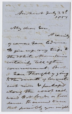 Edward Hitchcock letter to Edward Hitchcock, Jr., 1851 June 23