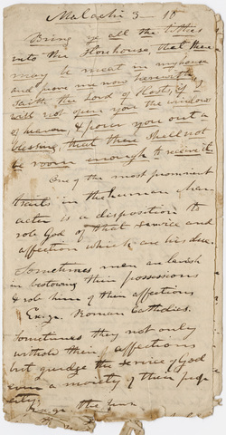 Edward Hitchcock sermon notes, 1837 March 2