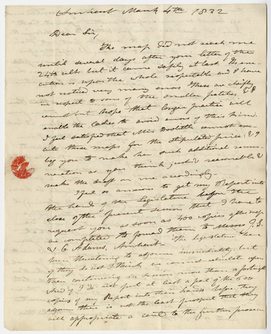 Edward Hitchcock letter to Benjamin Silliman, 1832 March 4