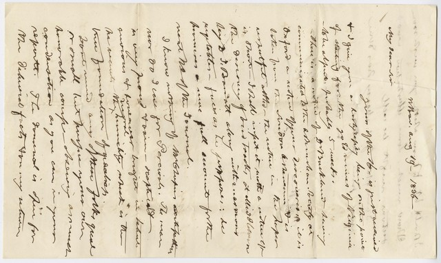 Benjamin Silliman letter to Edward Hitchcock, 1836 August 19