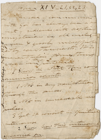 Edward Hitchcock sermon notes, 1835 October