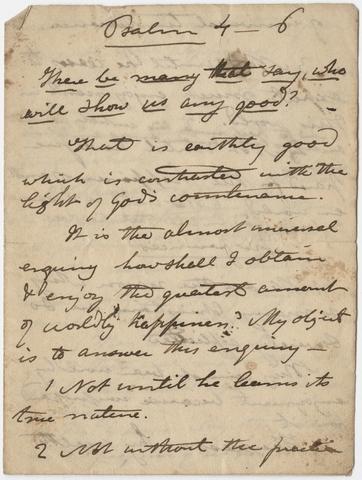 Edward Hitchcock sermon notes, 1837 March