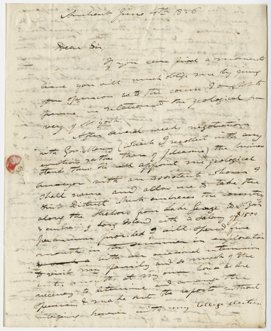 Edward Hitchcock letter to Benjamin Silliman, 1836 June 4