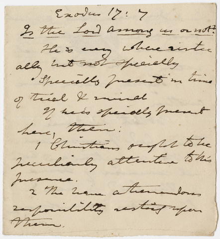 Edward Hitchcock sermon notes, 1835 July