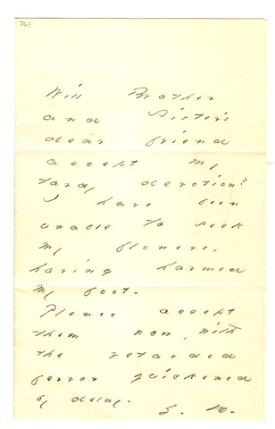 Emily Dickinson letter to Mrs. Mabel Loomis Todd