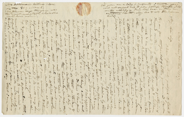 Edward Hitchcock letter to Orra White Hitchcock, 1827 February 7