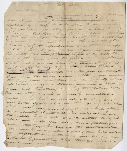 Edward Hitchcock draft letter to unidentified recipient