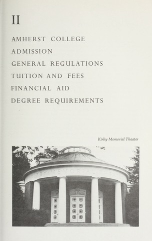 Amherst College Catalog 1974/1975