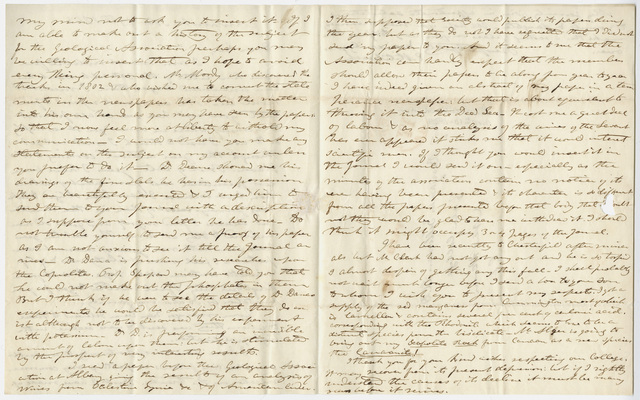 Edward Hitchcock letter to Benjamin Silliman, 1843 November 13