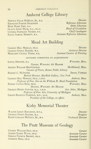 Amherst College Catalog 1961/1962