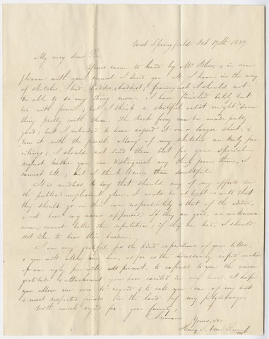 Henry J. Van-Lennep letter to Edward Hitchcock, 1839 October 17