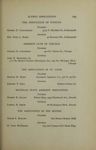 Amherst College Catalog 1920/1921