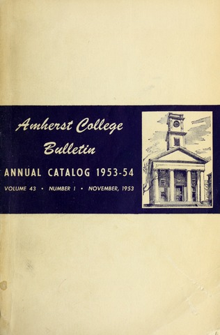 Amherst College Catalog 1953/1954