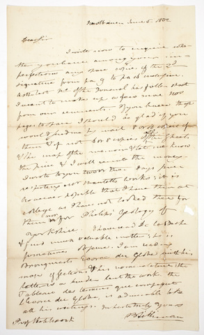 Benjamin Silliman letter to Edward Hitchcock, 1832 June 5