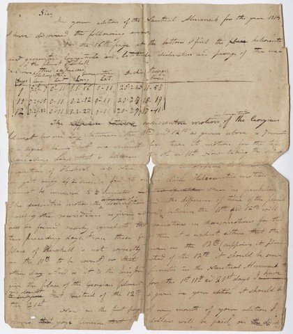 Edward Hitchcock draft letter to Edmund M. Blunt